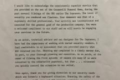Sopranos Letter Of Commendation