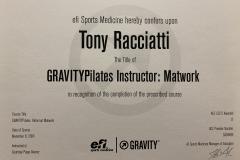 Gravity Pilates Instructor: Matwork